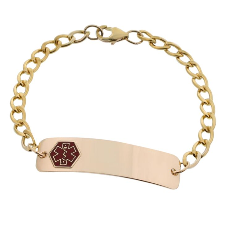 10K Gold-Filled Classic Red Bracelet