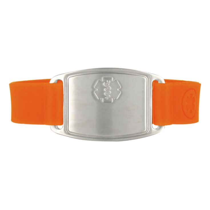 Stainless Steel Small Flex Bracelet on Silicone