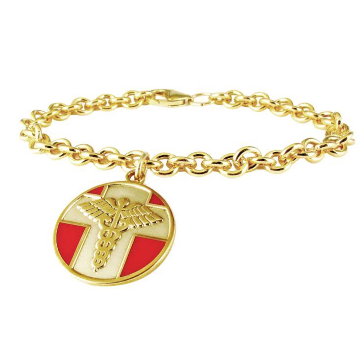 10K Gold-Filled Vintage Charm Bracelet