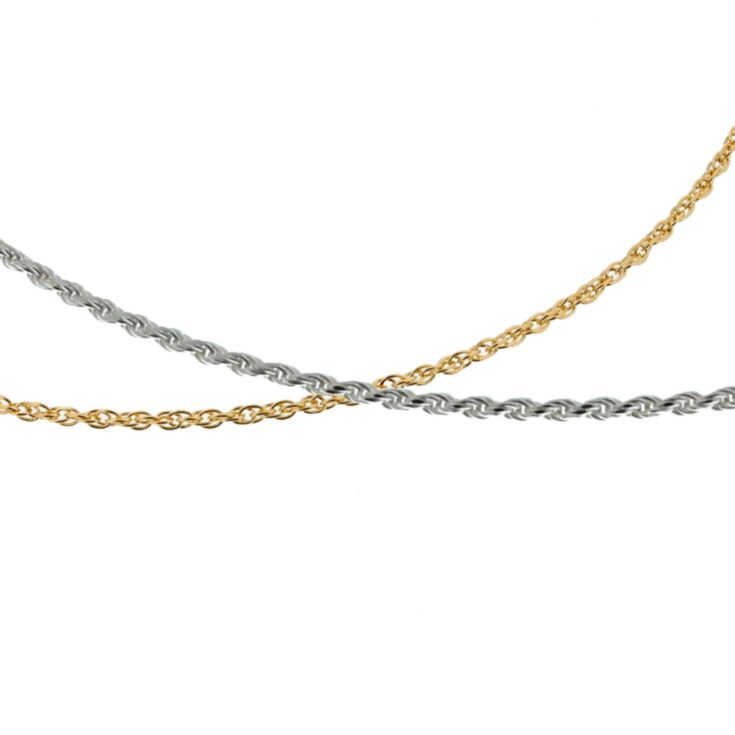 rope necklace chains in 14k gold and sterling silver, for teens, adults, womens medical id charms, pendants