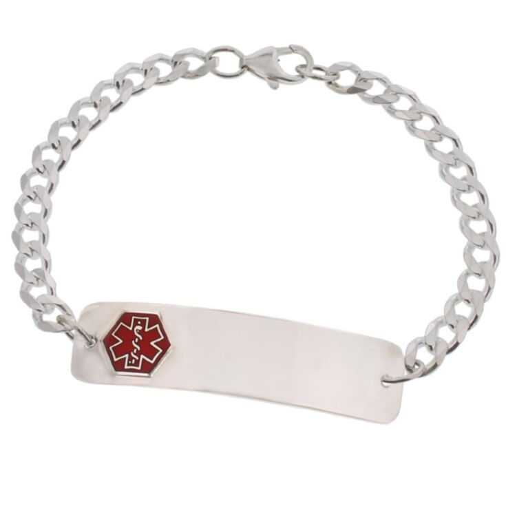 Sterling Silver Classic Red Bracelet