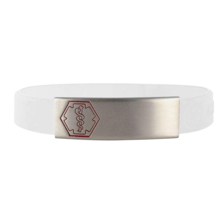 Stainless Steel Sleek Red Outline Bracelet