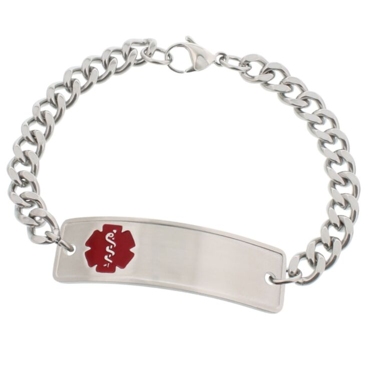 Stainless Steel Classic Red Bracelet with Safety Hook Clasp