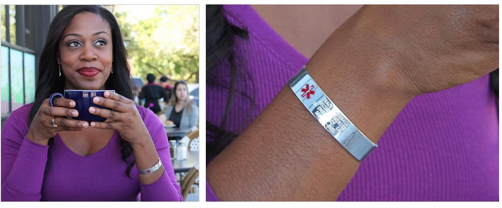 Woman wearing bracelet