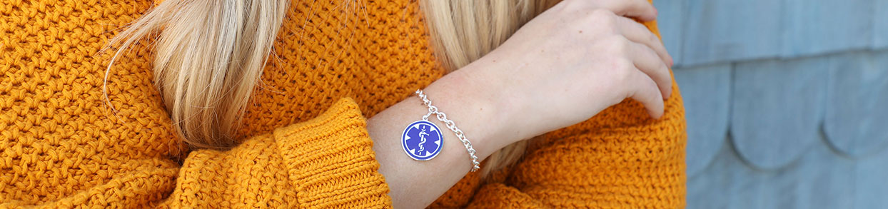 Epilepsy Medical ID Bracelet and Necklace