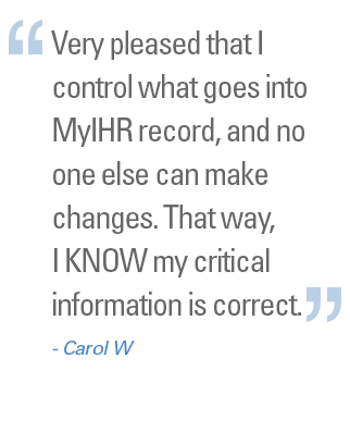 Importance of MyIHR