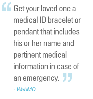 Web MD Recommends Medical ID Bracelets