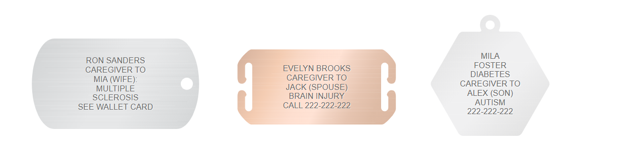 caregiver medical id engraving