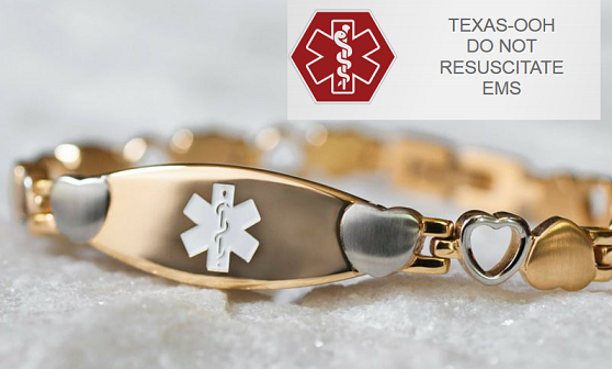 Do Not Resuscitate bracelet