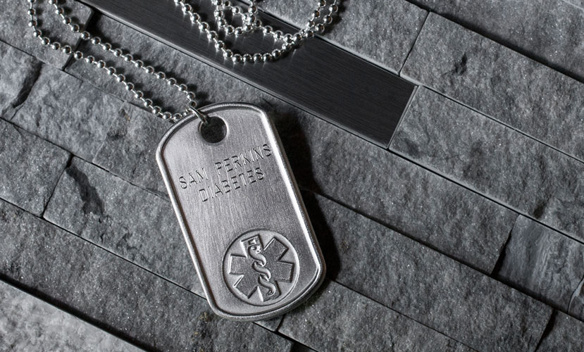Dog Tag Medical ID Jewelry