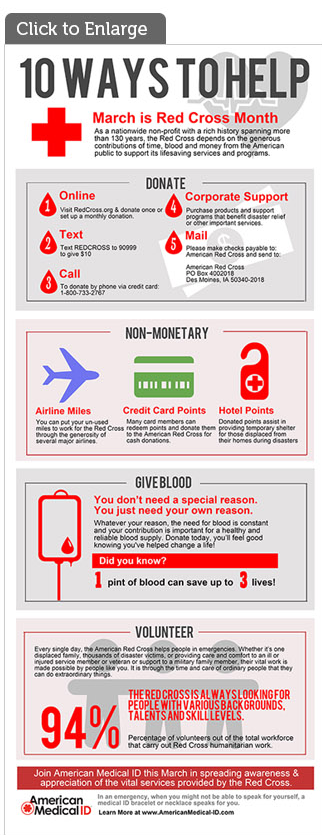 10 Ways to Help the Red Cross