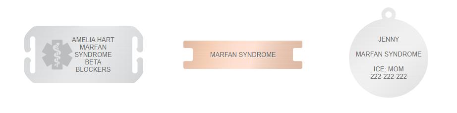 marfan medical ID bracelet